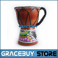 Djembe Percussion African Hand Drum For Sale,  Classic Painting Jambe Drummer