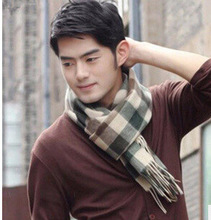 East Knitting A030 2014  Winter New Cotton Plaid Cashmere Knitting Color Men Scarf Leisure Warm Winter Scarves  Free Ship(China (Mainland))