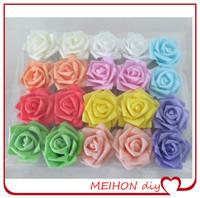 MEIHON handmade / 8cm head Multicolor dig PE rose foam cartoon flower  DIY material for wedding home artificial flower