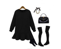 2013 New Women's Free Shipping New European Style Round Neck Sweet Loose Women Plus Size Velvet Thick Warm Coats Grey