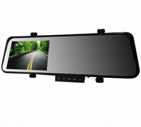 "New Arrival Ultrathin 3.0MP CMOS Car DVR Mirror Camera 4.3"" 140 Degree Wide Angle Full HD 1080P Novatek Recorder Car Cam"