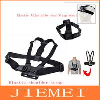 Photo Studio Accessories 2in1 Elastic Adjustable Head Strap Mount  and Elastic shoulder strap Gopro HD Hero 1 2 3+ Camera