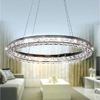 Free shipping oval design modern brief LED crystal chandelier  lustre 3 sides crystal lustres de teto abajur