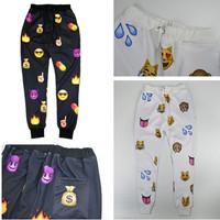 Fashion EMOJI Printed Women Pants Sport Suit New 2014 Autumn Women's 3D Jogger Pants trousers Women Harem Sweatpants