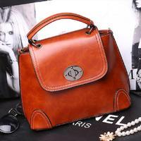 2014 New fashion PU faux leather bag lady tide-locked vintage shoulder handbags women messenger bags