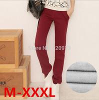 M/L/XL/XXL/XXXL size casual pants2014 winter Korea style plus size elastic waist women's sport pants free shipping