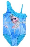 New Frozen Swimsuit Girls Swim Suit Bathing Suit blue One Pieces Lavender Swimwear Children's Clothing Fashion Kids Clothes