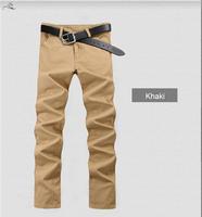 Fashion Casual Famous Clothing Brand Pants Man Pur Color Long Comfortable trousers Korean Style Men 9 Colors Size 28-38