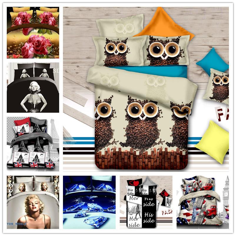 Home textile bedding-set roupa de cama bed set edredon Duvet Cover Bed sheet comforter King size 3d bedding set(China (Mainland))