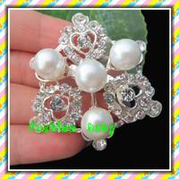 wholesale fashion rhinestone and pearl brooch