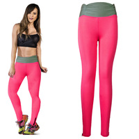 New Arrival 2014 WomHigh Waisted Gym Fitness Leggings  Fashion Yoga Casual Pants Stretched Legging 3 Colors 4 Sizes