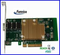 Femrice 10Gbps Single Port Fiber Optical Ethernet Network Card Heat Sink Can Be Custom Made