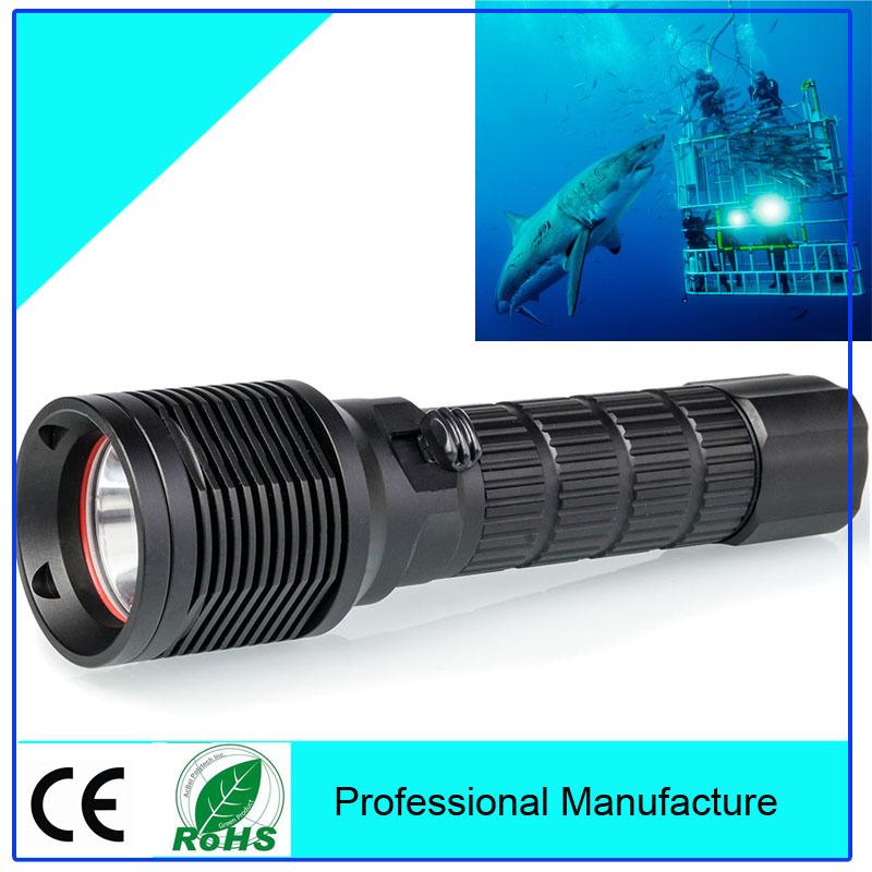 CREE XML-2 650LM LED Diving Scuba Flashlight Torch Light Lamp TrustFire Flashlight Diving(China (Mainland))