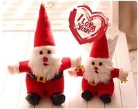 Free shipping santa claus plush toy Father Christmas doll 20cm 15pcs/lot