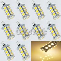 10pcs Warm White  18 SMD 5050 LED 3500K 220LM 3W Chip Bright Light Lamp Bulb