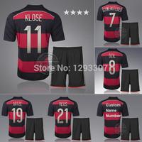 Embroidery Away Football Kit Set of Jersey & kits Men Sports Outfits Ozil Gotze Reus Klose Schweinsteiger Soccer Shirt Uniform