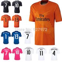 JAMES KROOS Camiseta Ronaldo Real Madrid Orange Black 2015 ISCO BENZEMA MODRIC Real Madrid Champions League 14 15 Jersey