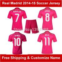 New Pink CHICHARITO 2015 Real madrid jersey 14 15 Real Madrid Soccer Jersey JAMES RONALDO BALE Real Madrid soccer shirt football