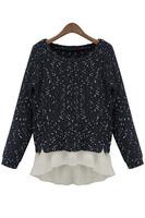 2014 Popular Chiffon Underlay Smoke Women Knitwear Blouse Long-sleeved Top B7039 Fshow