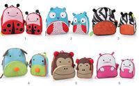 2014 Promotion Rushed Mochila Infantil Frozen Bag Animal Cartoon Child Care Laptop Student Shoulder Canvas Bag + Lunch Small