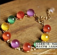 Free shipping new candy-colored crystal beads bracelet fashion bracelet jewelry sweet beauty