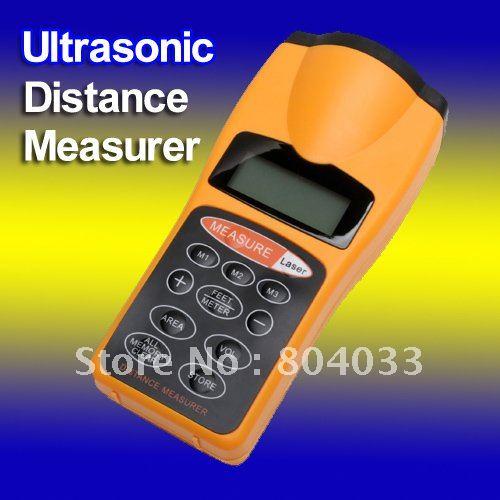 2014 Durable Digital Ultrasonic Distance Measure Area Volum Measure Laser Designator Ranging tester Meter LCD Night Light(China (Mainland))