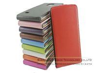 300pcs Genuine Leather Plain Color Vertical Flip Pouch Folio Leather Case for Samsung Galaxy Note 4