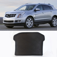 3D Black Truck Rear Tail Tray Boot Liner Protecter Cargo Mat Carpet All Weather Waterproof For Cadillac SRX 2011