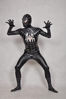 Black Superman Spiderman Full Body Spandex / lycra Latex Rubber Zentai Bodysuit Adult Size For Party