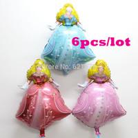 New arrival 6pcs/lot  50*72cm  A Little Princess balloon for girl's birthday party  foil balloon mylar helium balloon