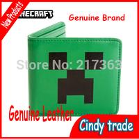 Genuine MINECRAFT face purse JJ strange coolie afraid wallet women wallets&men wallets  Free shipping ak126