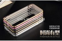 Luxury Ultra thin Metal Aluminum Frame Bumper Case Golden Border Circle Arc For Apple iPhone6 5.5Inch 10pcs/lot free shipping