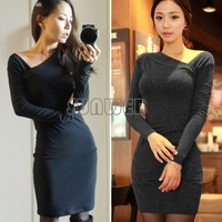 Retail bandage dress Party Women Casual Long Sleeve Autumn/Winter OL Slim Women Work Wear Pencil Vintage Bodycon Dress B16