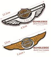 Free Shipping !(2pcs/lot) Style!!Refit Metal car logo ,Emblems ,Car mental Sticker for Harle*y ,EK0000