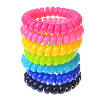 New Candy Color Telephone Cord Headband Girl's Hair Ties Head band Hair Strap Hair Bands String Hair Accessories Free Shipping