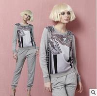 MIANBO new original high-quality Fashion lady high-definition digital printing womens sweater Violet