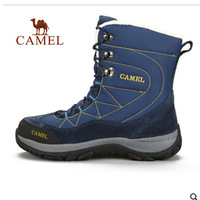 Camel outdoor hiking shoes 2014 new winter men's high-top hiking shoes in the warm velvet lining authentic shoes