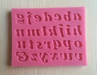 Letters Shaped Silicone Cake Mold Sugar Paste 3D Fondant Cake Decoration Tool -S060