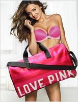Women's Red Fringe Handbags Victoria Love Pink Large Travel Duffle Striped Waterproof Beach Bag Shoulder Bag Shopping Bag