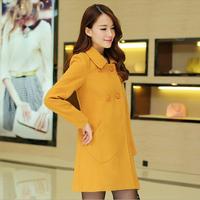 Women Woolen coat Long section woolen coat lapel woolen cape jackets S-XXL