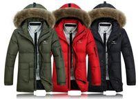 2014 New Long Winter Men down jacket, Warm in Winter down jacket for Men, winter coat men, plus-size, S-4XL, Free Shipping!