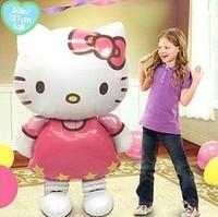 Free Shipping aluminum balloon Hello Kitty Foil Balloons Birthday Party Decoration 116*58 CM