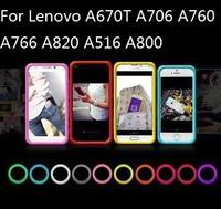 The multi-function bracelet bumper case ,silicone Anti-knock ring case  for Lenovo A670T A706 A760 A766 A820 A516 A800,gift