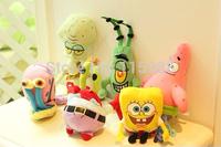 6pcs/set plush stuffed animals toy Patrick star Squidward Tentacles Mr. Krab Sheldon Plankton Gary Toys gift children