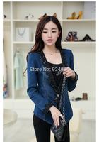 new arrival 2015 korean women coat lace Denim jackets autume winter  blazer feminino clothes chaquetas mujer tops