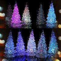 2014 Hot Acrylic Tree Discus Night Light Crystal Christmas Tree Colorful Christmas Ornaments Drop Shipping Xmas-0015\br