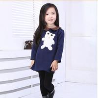 2014 Cotton Flax children are not inverted cashmere cotton cartoon princess dress children dress girlsxjh19