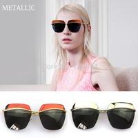 14' New Free Shipping Half Reflective Coating Lens Vintage Sunglasses Women Men oculos de sol gafas Fashion Designer Sun Glasses