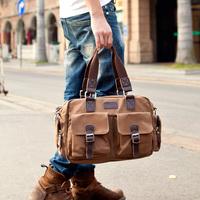 single shoulder bag men cross Korean capacity tide travel bags men's casual canvas man bag retro,free shipping