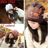 17 colors 2014 brand women winter hats Ear Protect caps casual beanies Skullies, warm plush beanies women, Print Hats for Women